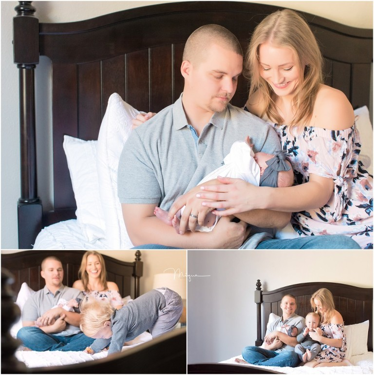 In-home Family Newborn Lifestyle Session in Clovis CA - Featherstone Family
